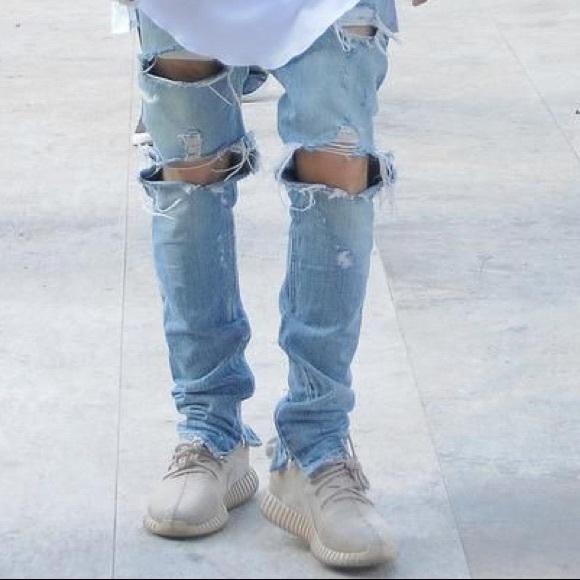shop for original best deals on diversified latest designs Fear Of God Inspired Distressed Denim Jeans